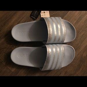 Adidas glitter adilette comfort slides